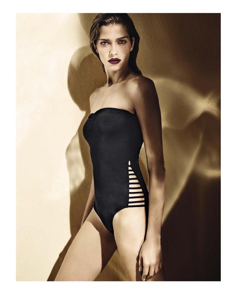 Ana Beatriz Barros goes strapless in Liu Jo Beachwear