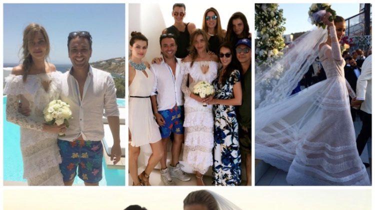 See Ana Beatriz Barros' wedding dress. Photos: Instagram