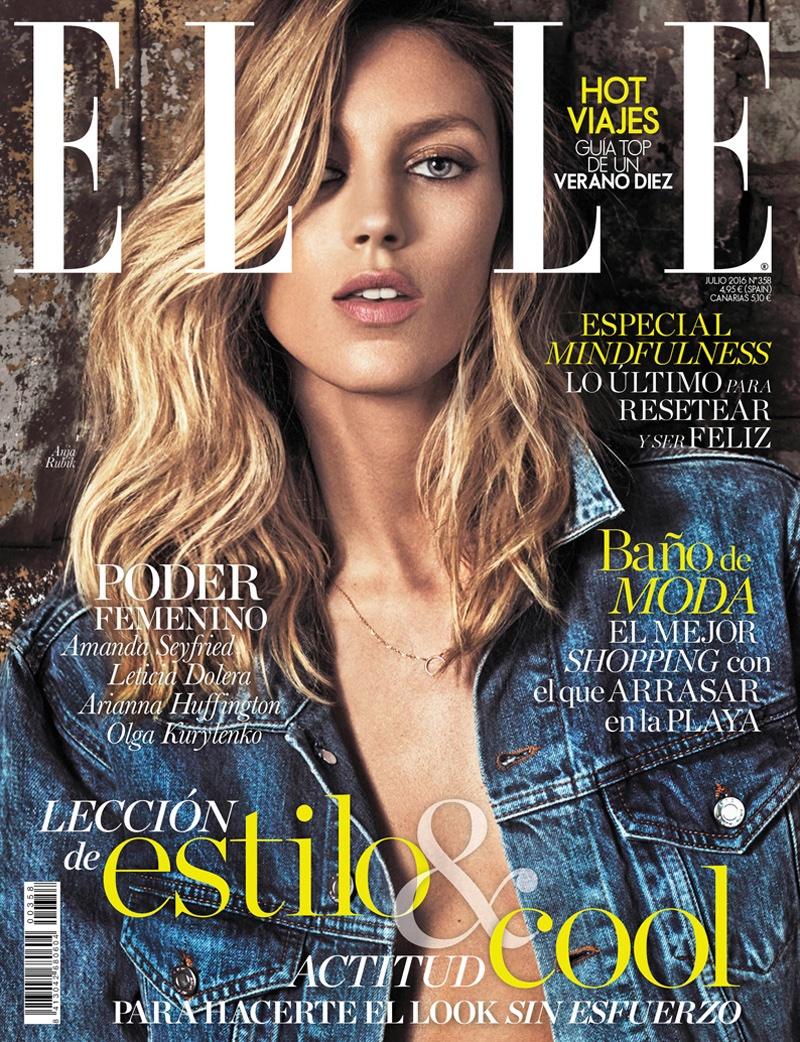 Anja Rubik on ELLE Spain July 2016 Cover