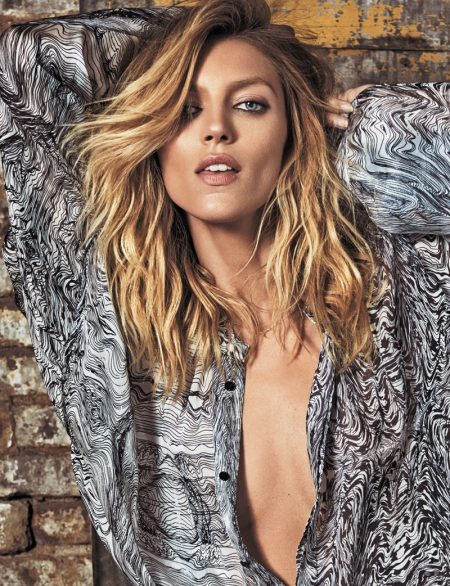 Anja Rubik Models Her New Clothing Collaboration in ELLE Spain