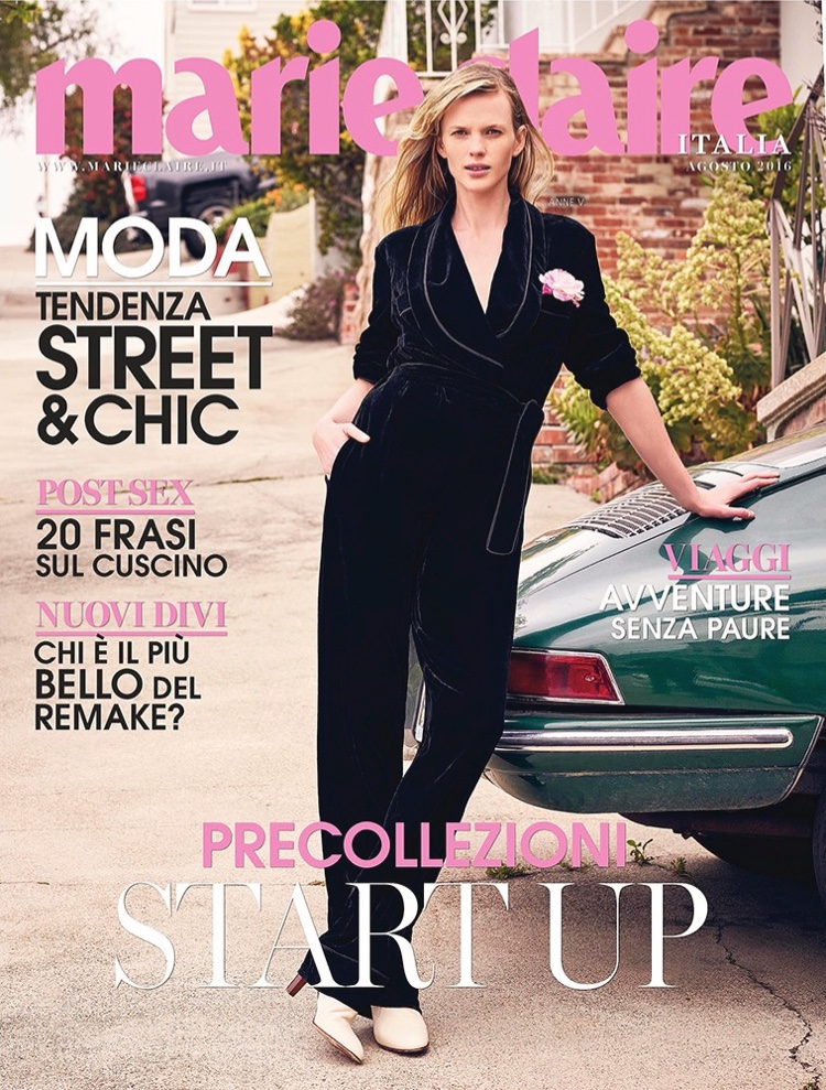Anne Vyalitsyna on Marie Claire Italia August 2016 Cover
