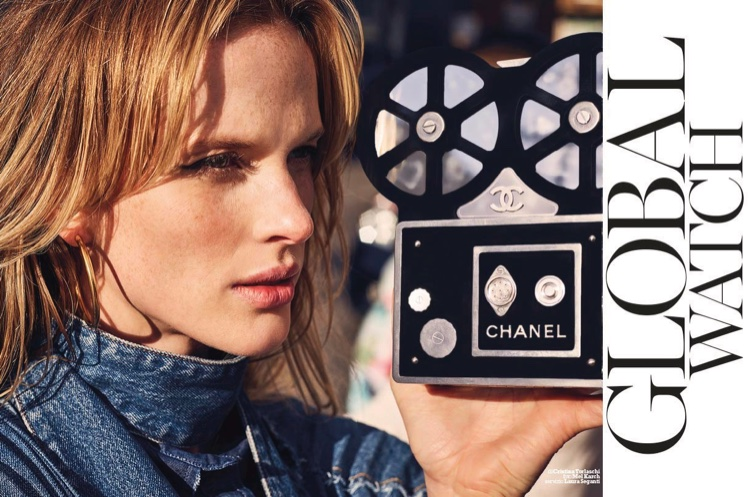 Photographed by Mel Karch, Anne Vyalitsyna models looks from the spring collections