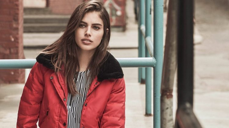 Shlomit Malka Poses in New York for Armani Exchange's Fall Ads