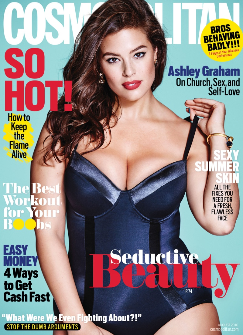 d48f5634a1fa Ashley Graham Cosmopolitan Magazine August 2016 Photoshoot | Fashion ...