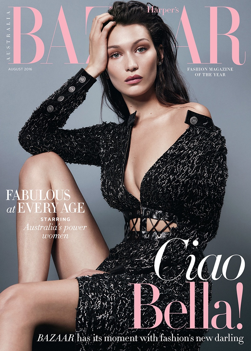 Bella Hadid on Harper's Bazaar Australia August 2016 Cover