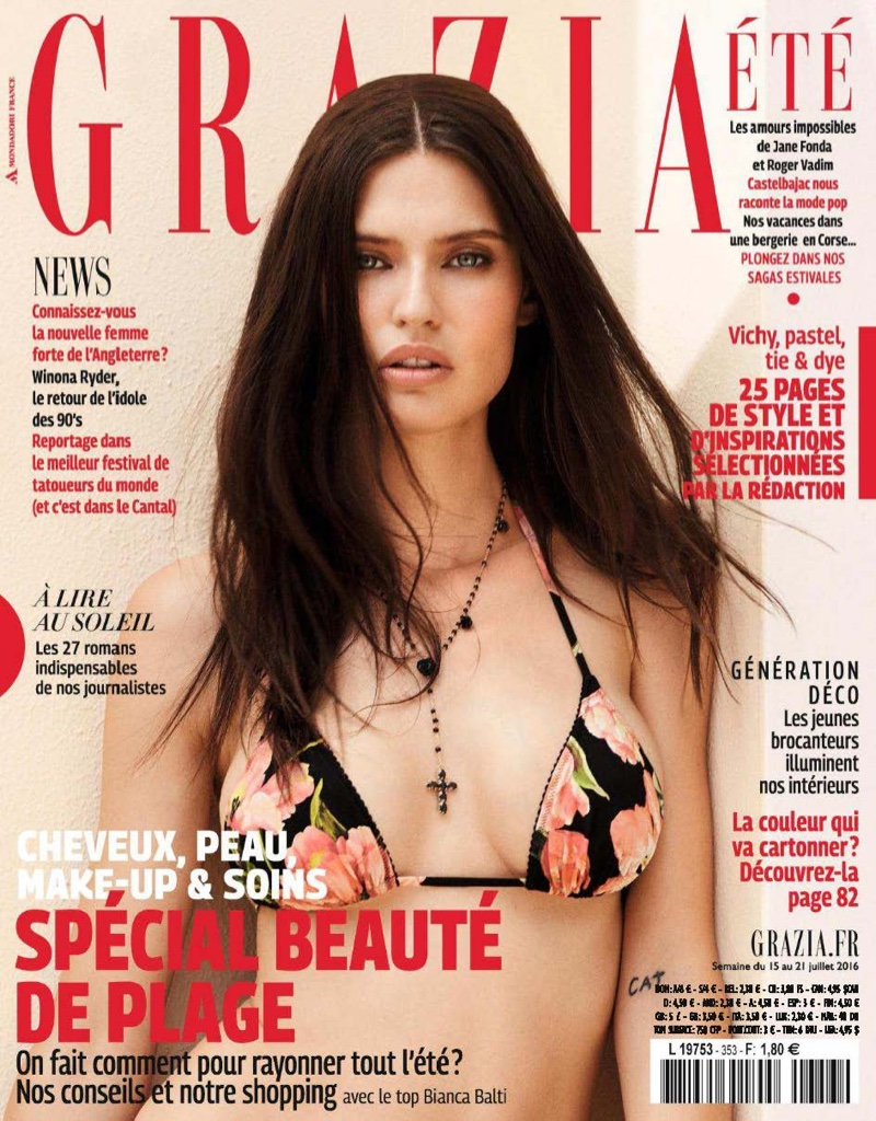 Bianca Balti on Grazia France July 2016 Cover