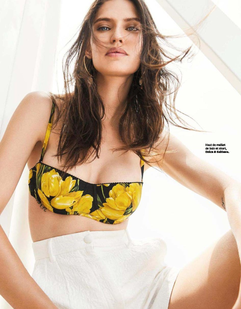 Bianca Balti poses in Dolce & Gabbana swimsuits styles for the editorial