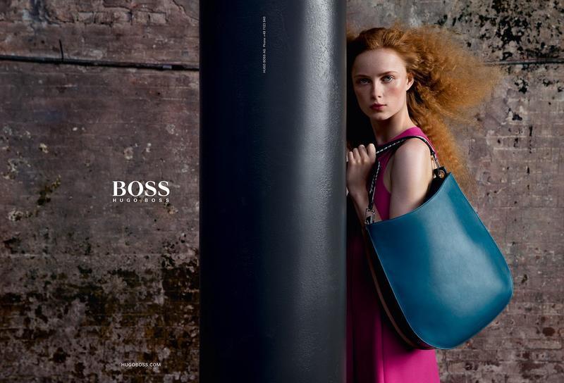 Rianne van Rompaey steals the spotlight in BOSS Hugo Boss' fall-winter 2016 campaign.