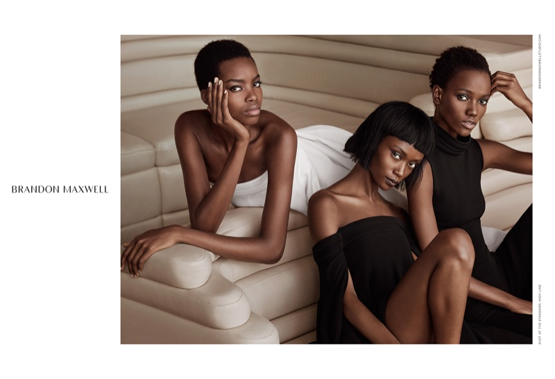 Herieth Paul,Leila Nda and Maria Borges star in Brandon Maxwell's fall-winter 2016 campaign