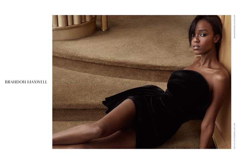 Leila Nda stars in Brandon Maxwell's fall-winter 2016 campaign