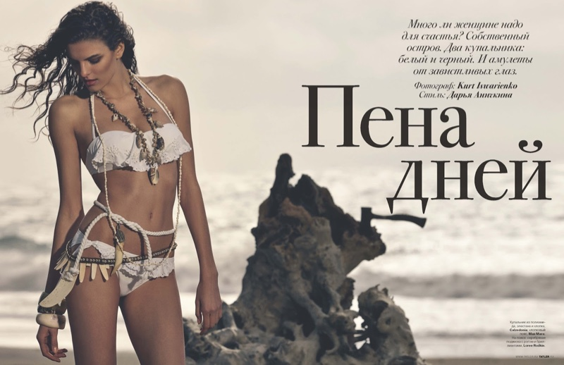 Carmen Cecian stars in the May issue of Tatler Russia