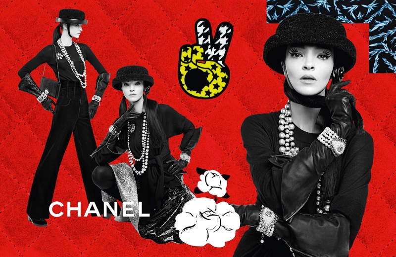 Mariacarla Boscono stars in Chanel's fall-winter 2016 campaign