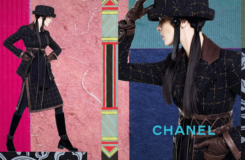 Karl Lagerfeld captures colorful collages for Chanel's fall 2016 campaign