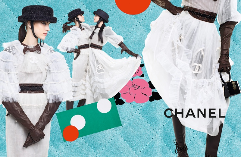 Karl Lagerfeld photographs Chanel's fall 2016 advertising campaign