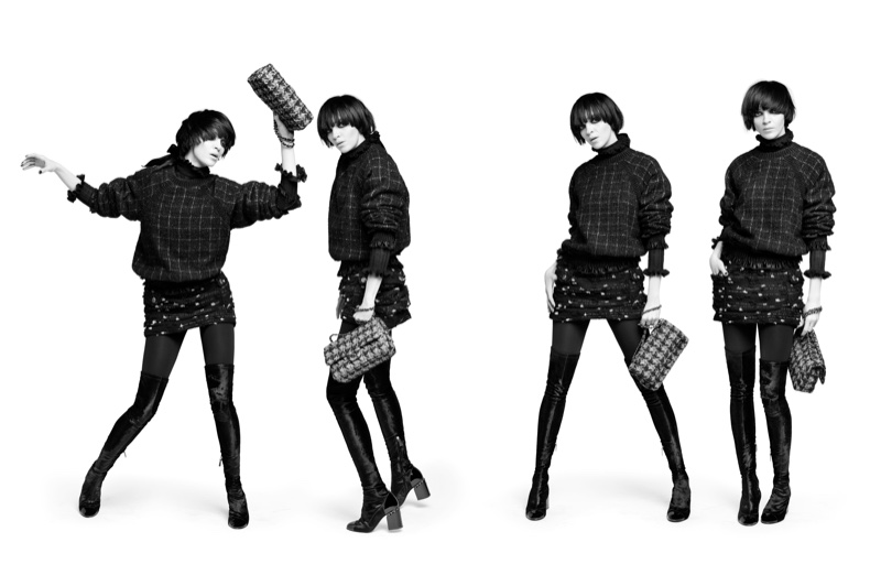 Karl Lagerfeld shoots Chanel's pre-fall 2016 campaign