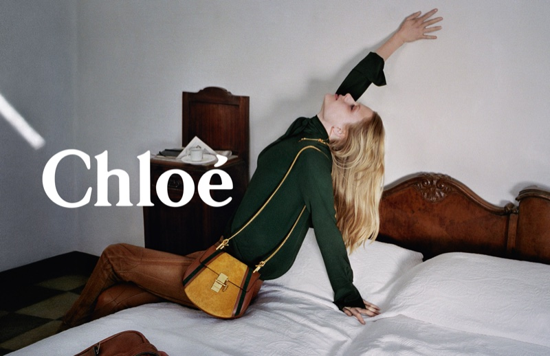 Chloe features Drew leather shoulder bag in fall 2016 campaign