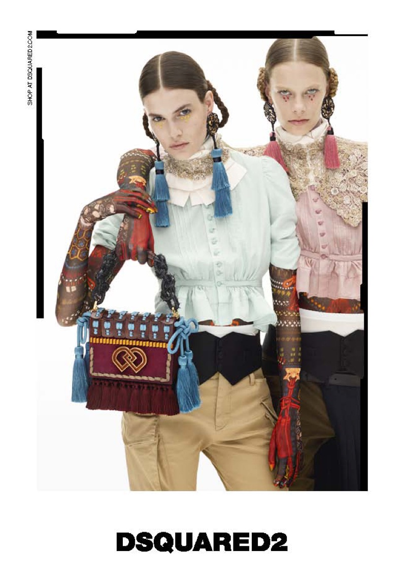DSquared2 focuses on embellished handbags with its fall 2016 campaign