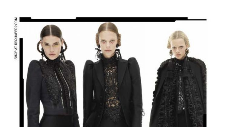 DSquared2 Goes Modern Victorian for Fall 2016 Campaign