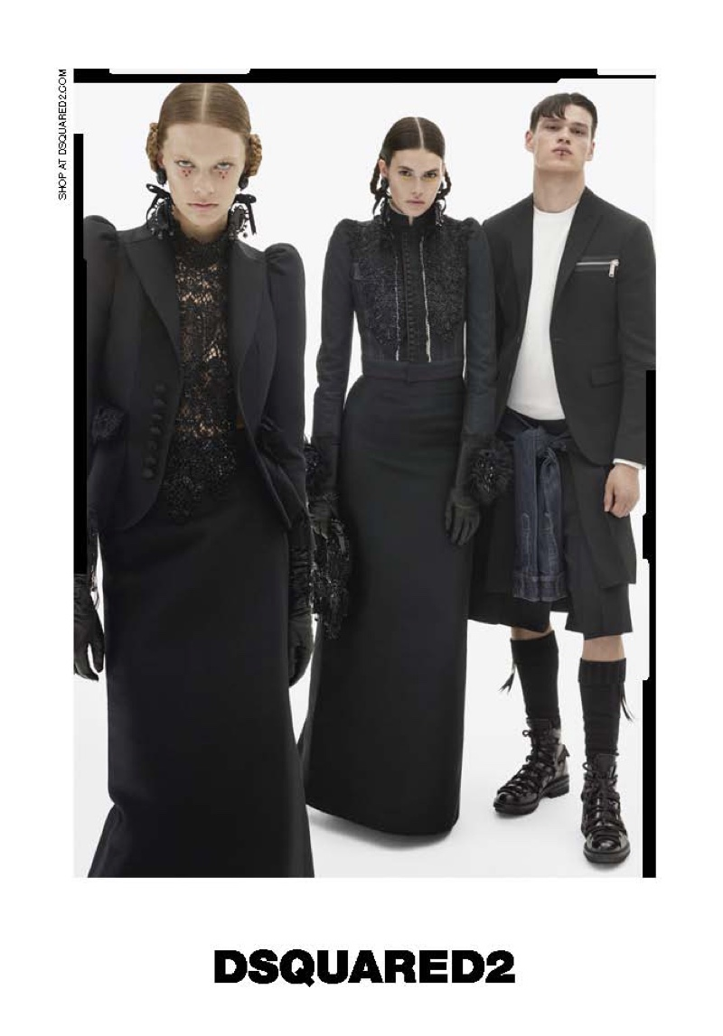 DSquared2 features Victorian inspired looks in fall 2016 advertising campaign