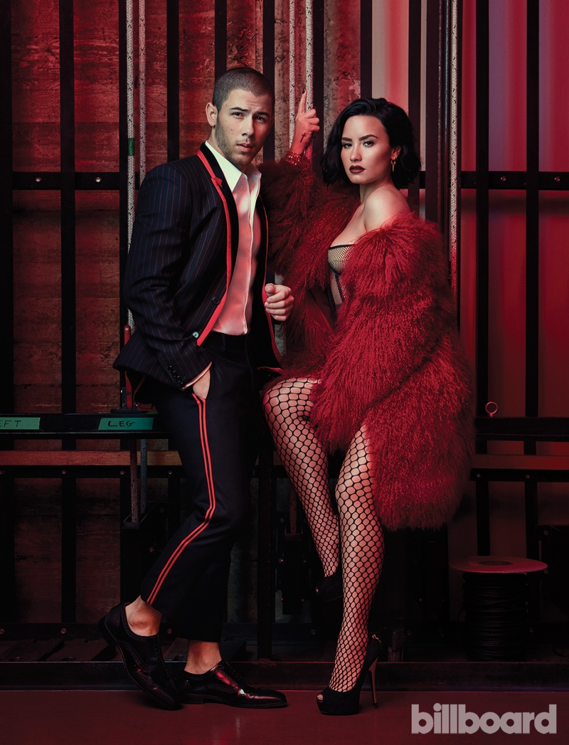 Nick Jonas and Demi Lovato serve up dapper and glamorous style for the shoot
