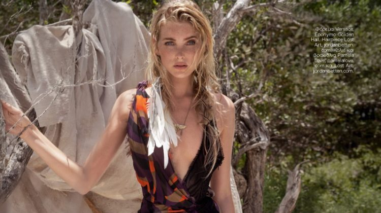 Elsa Hosk is a Beach Siren in Harper's Bazaar Greece Cover Story