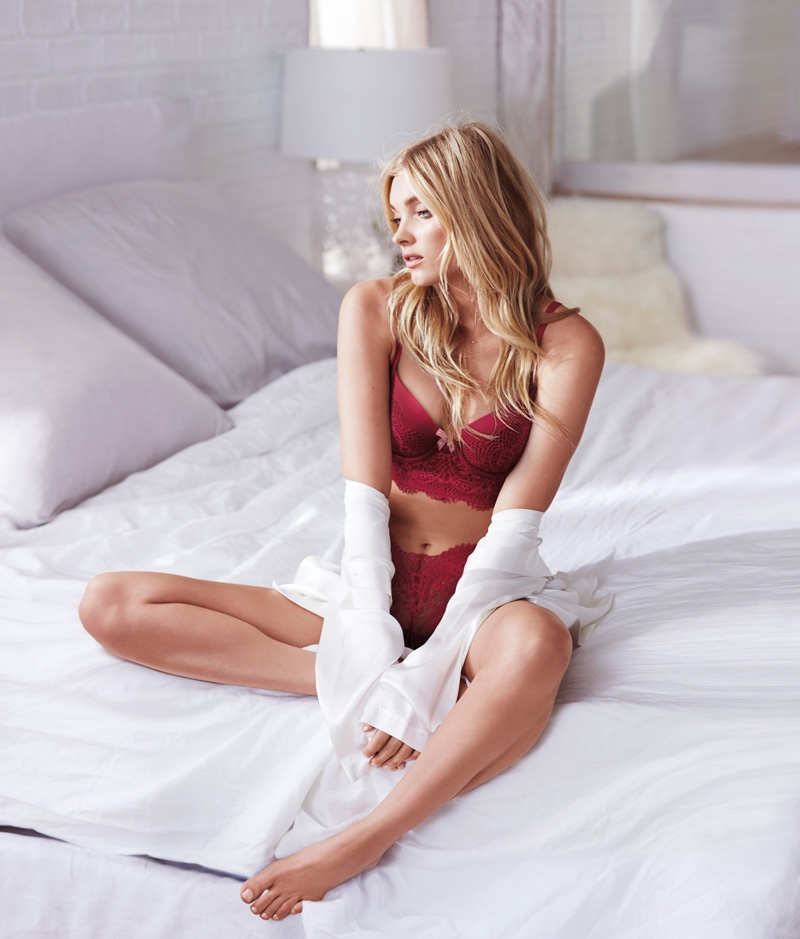 Elsa Hosk poses in Victoria's Secret Body by Victoria Easy collection