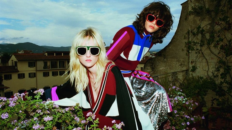 Harleth Kuusik and Steffy Argelich star in Emilio Pucci's fall-winter 2016 campaign