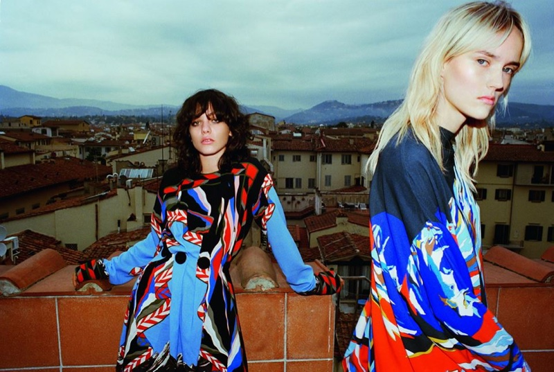 Emilio Pucci photographs fall 2016 campaign on a Florentine rooftop