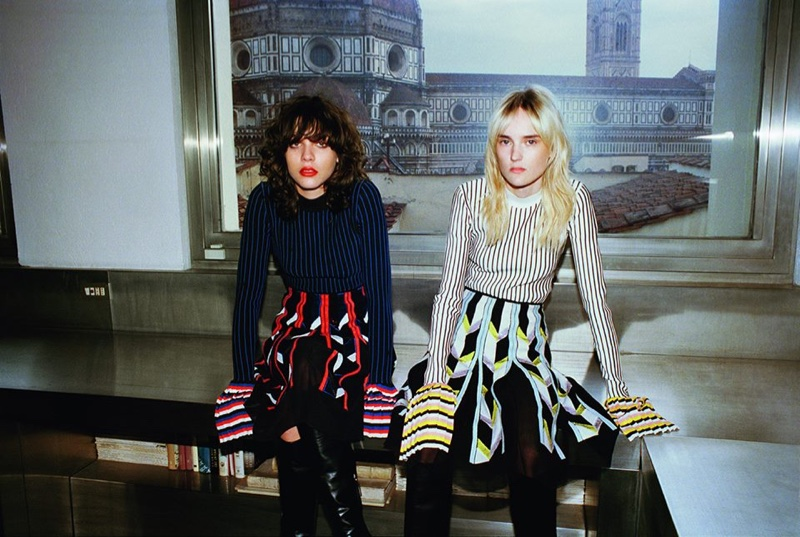 An image from Emilio Pucci's fall 2016 campaign