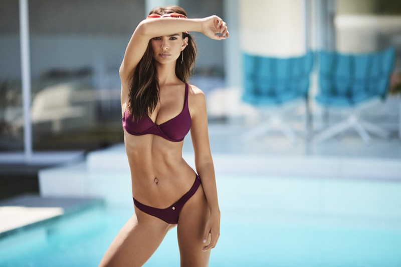 Emily Ratajkowski Heats Up Amore + Sorvete's Swimsuit Campaign