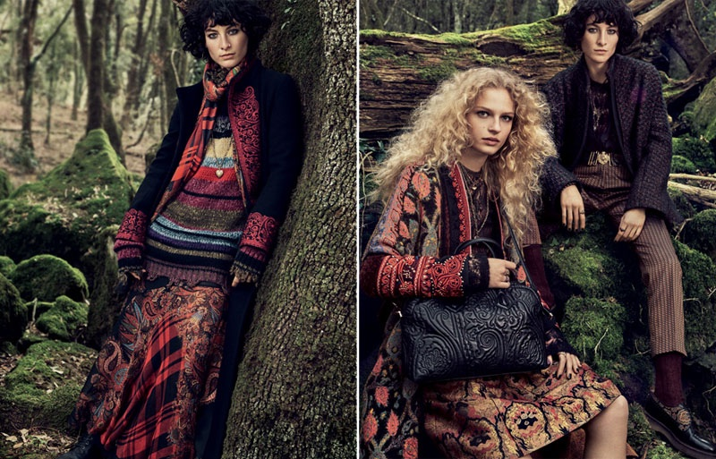 Frederikke Sofie and Heather Kemesky star in Etro's fall-winter 2016 campaign