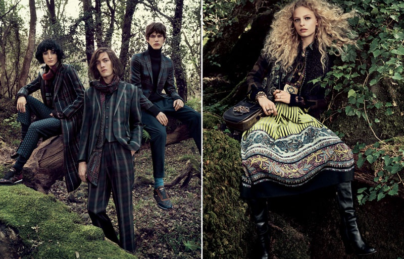 Etro's fall-winter 2016 advertising campaign heads out to the woods