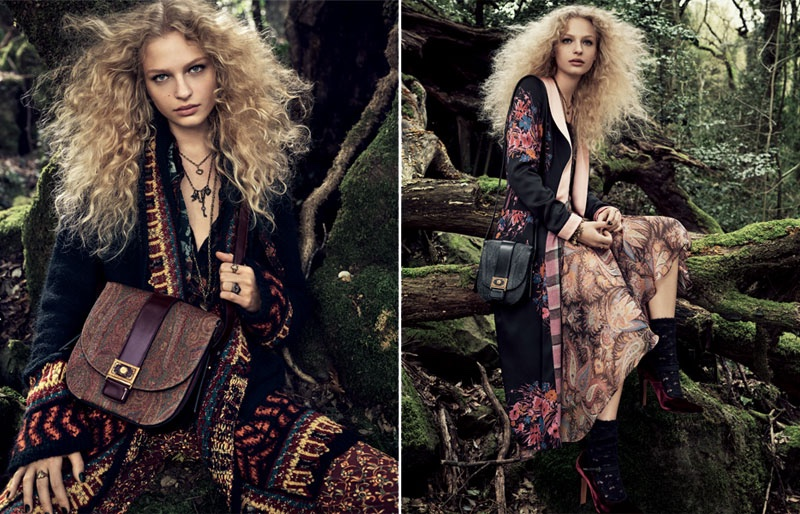 Etro features embroidered outerwear in its fall 2016 campaign