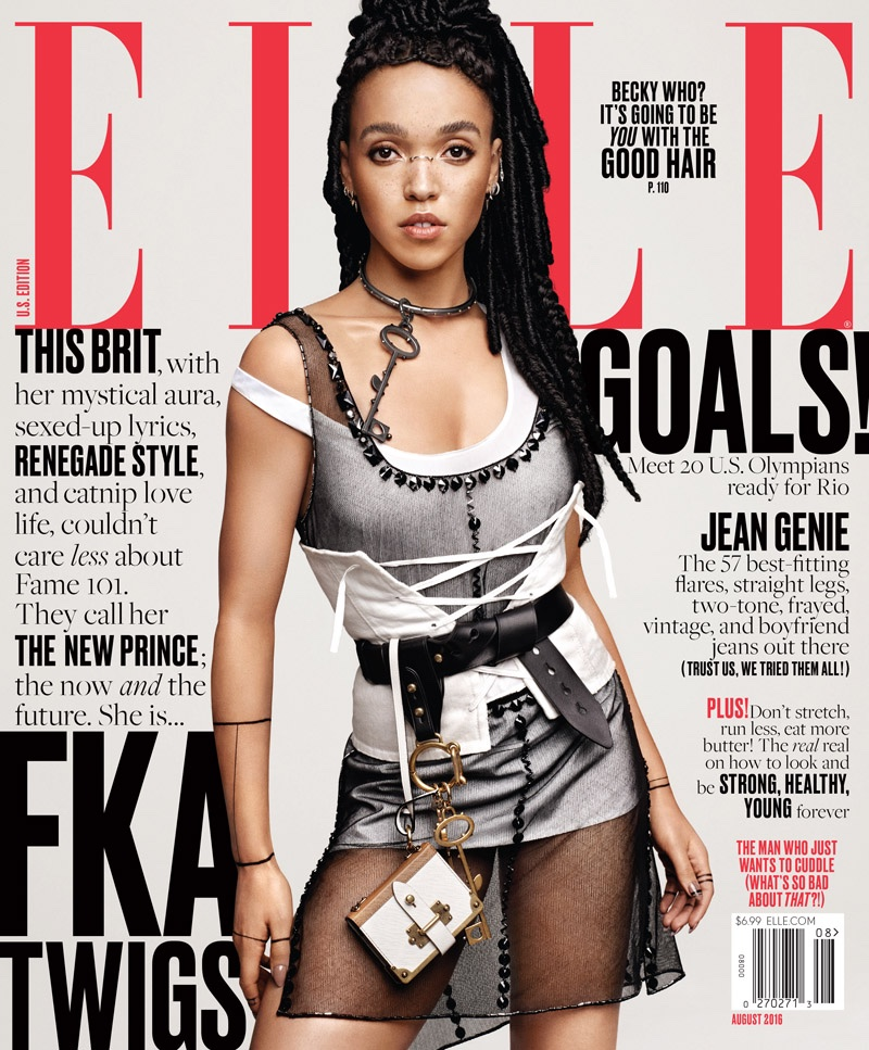 FKA Twigs on ELLE August 2016 Cover