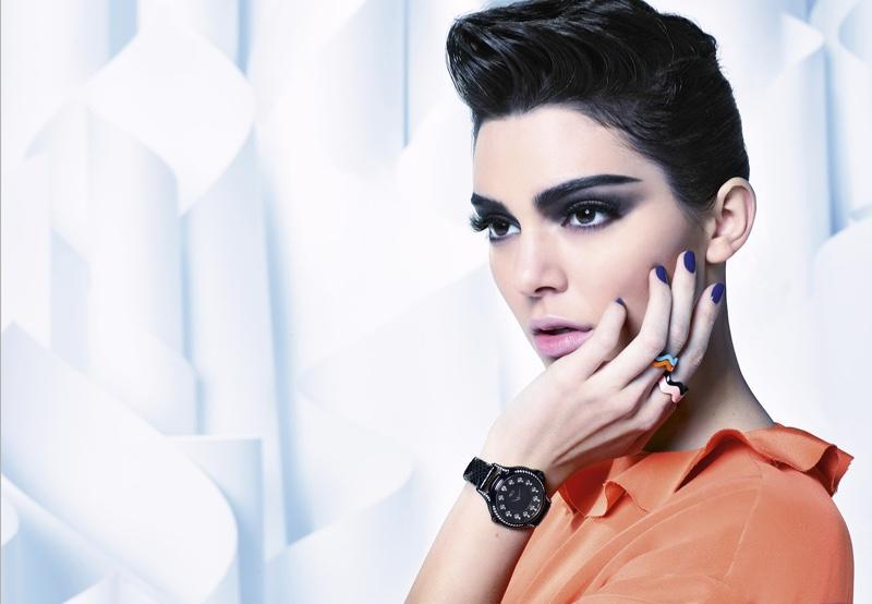 Kendall Jenner wears slick updo in Fendi's fall 2016 campaign