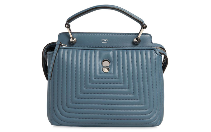 Fendi Mini Dotcom Quilted Leather Bag