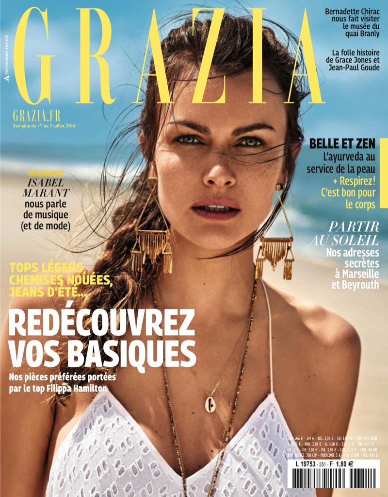 Filippa Hamilton on Grazia France July 2016 Cover
