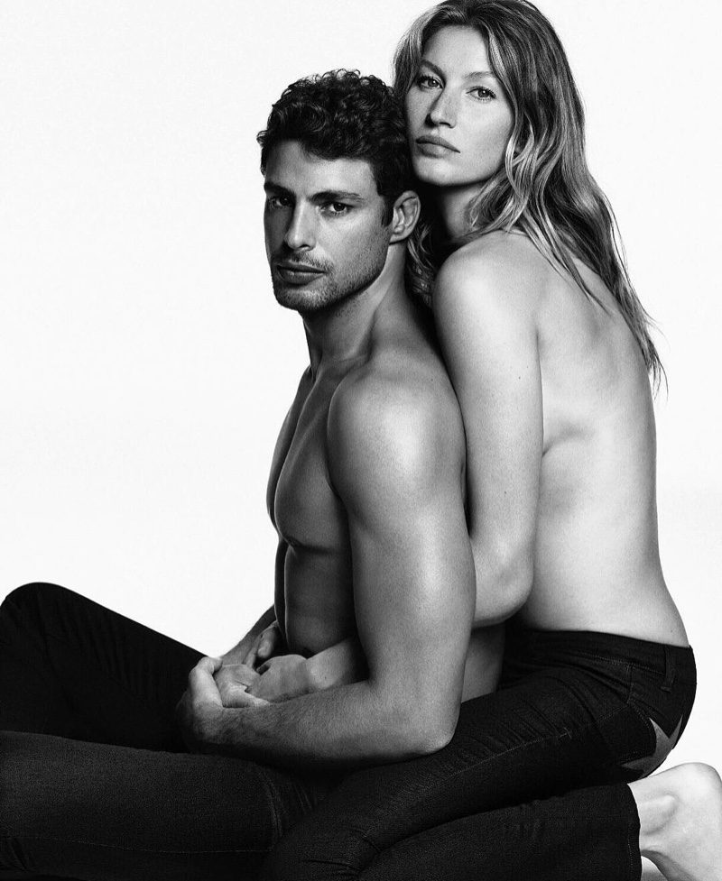 Gisele Bundchen gets up close and personal with Cauã Reymond in Givenchy's 2016 campaign