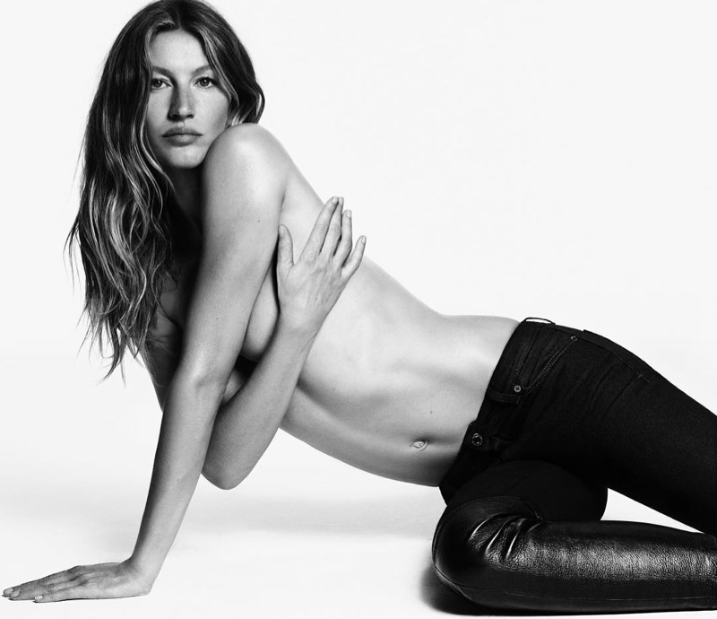 Gisele Bundchen wears form-fitting denim in Givenchy Jeans campaign