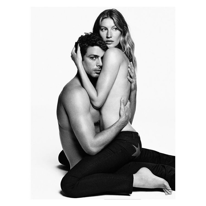 Gisele Bundchen and Cauã Reymond behind the scenes on Givenchy Jeans campaign shoot