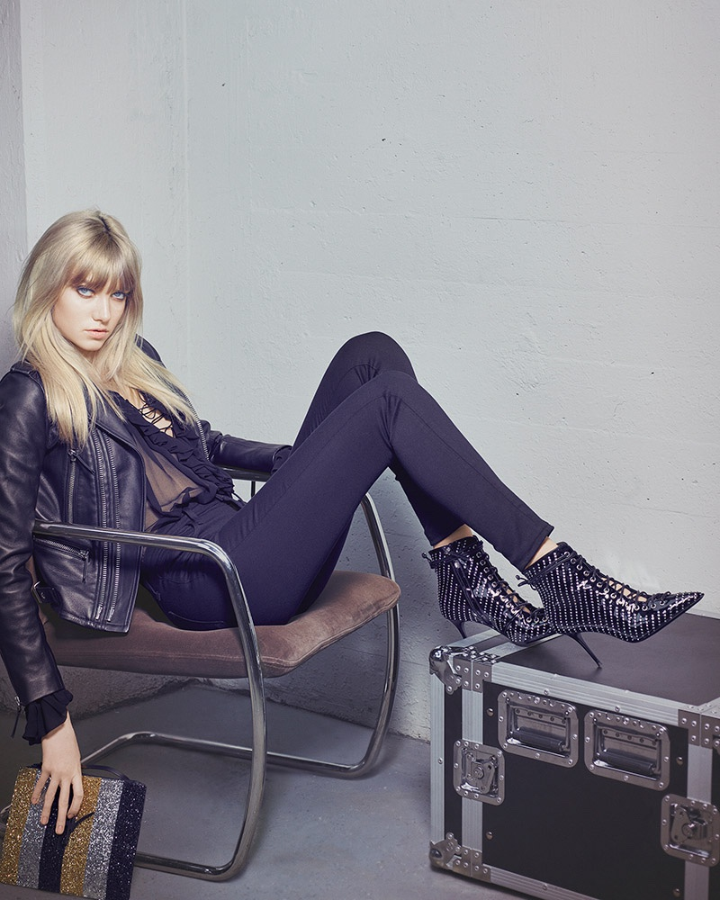 Giuseppe Zanotti features studded ankle boots in fall-winter 2016 campaign