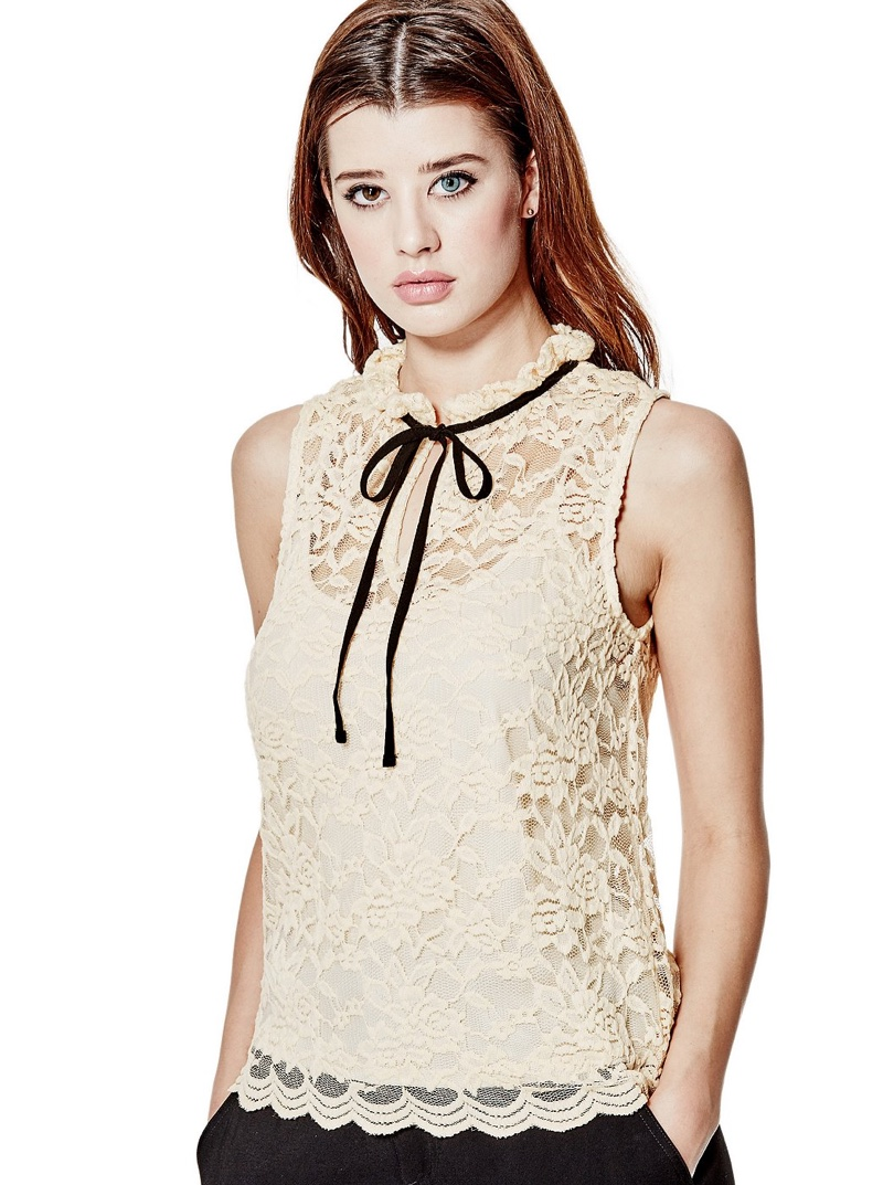 Guess Lanette Victorian Lace Top