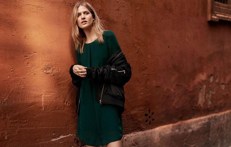 H&M Pilot Jacket and Chiffon Dress