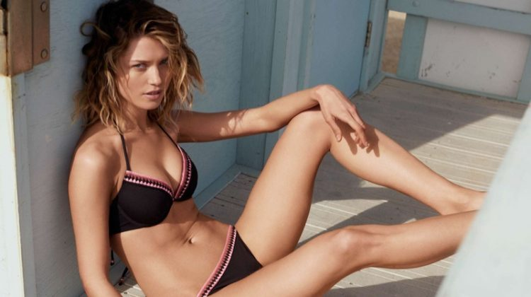 Hana Jirickova is a Beach Beauty in H&M's Latest Swimsuit Styles