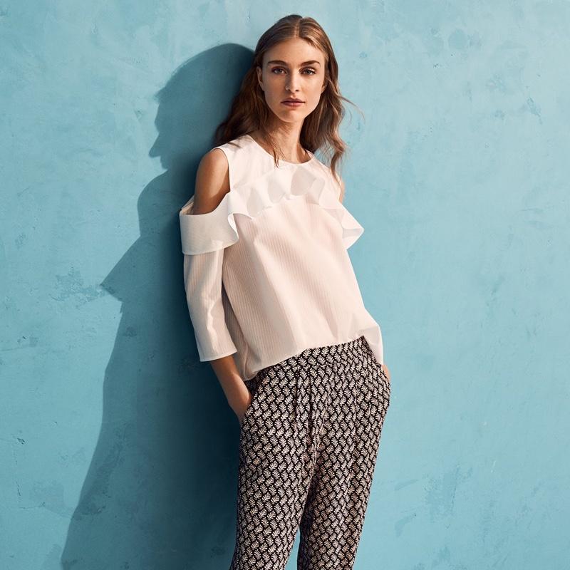 H&M Open-Shoulder Blouse and Loose Fit Pants