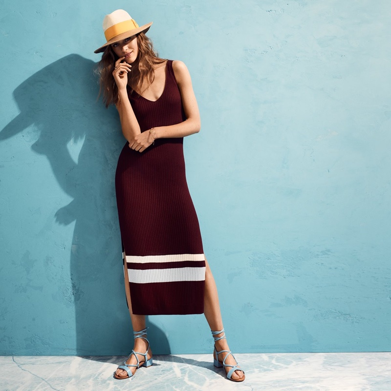 H&M Ribbed Dress and Sandals