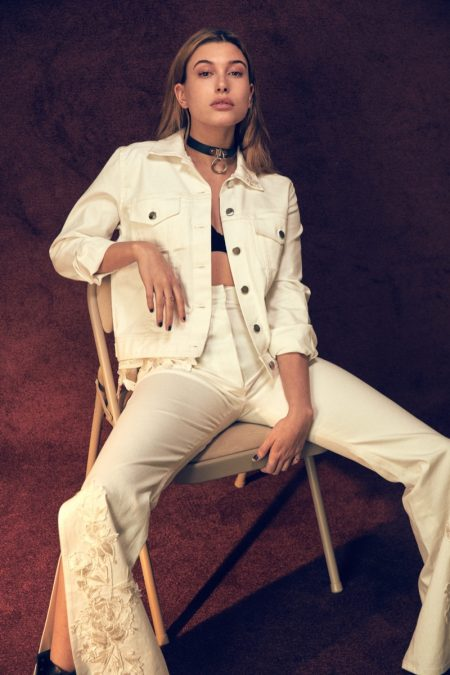 Hailey Baldwin Embraces Laid-Back Style for V Feature