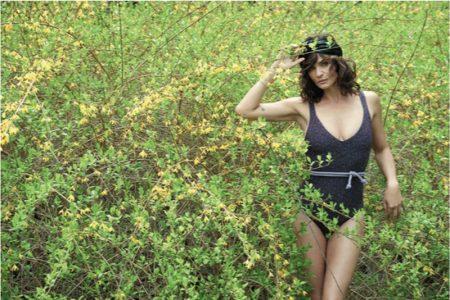 Helena Christensen Keeps It Natural in Russh Editorial