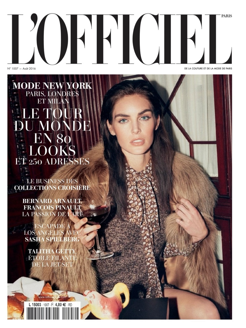 Hilary Rhoda on L'Officiel Paris July-August 2016 Cover