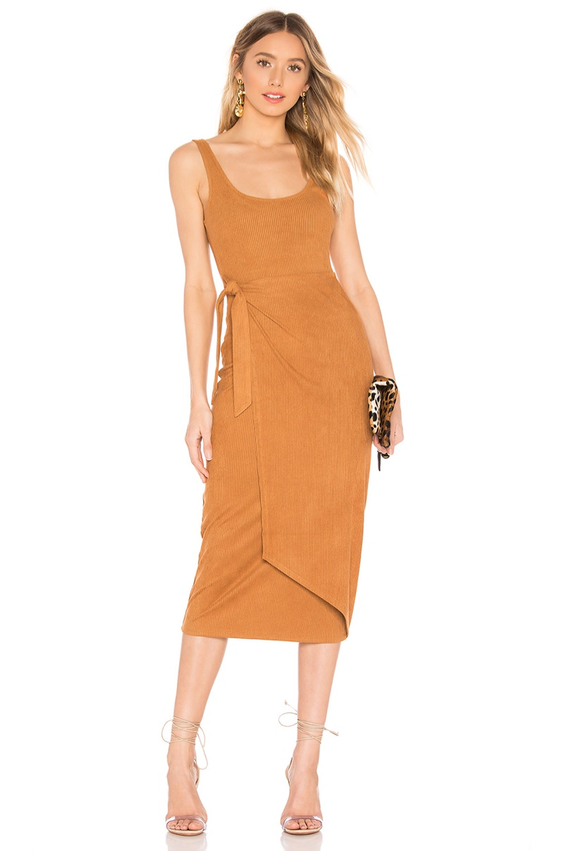 House of Harlow 1960 x REVOLVE Patricia Dress in Toffee $138